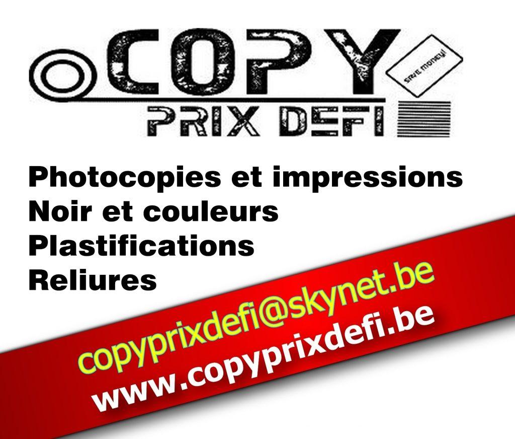 Copy prix Défi